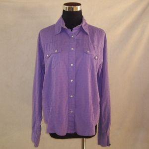 Cruel Girl Western Shirt Long Sleeve Snaps
